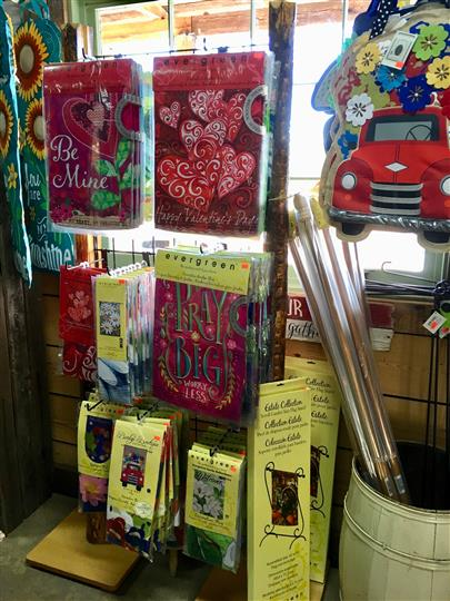 Gift shop with table cloths for sale