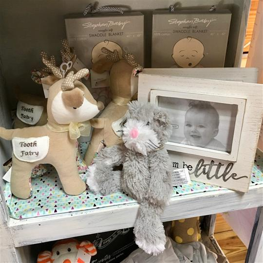 Gift shop with plush toys and picture frames