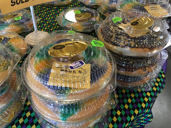 Baked pies in plastic containers on sale