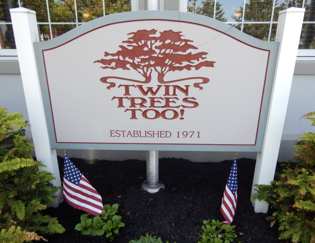 exterior sign of Twin Trees Too!