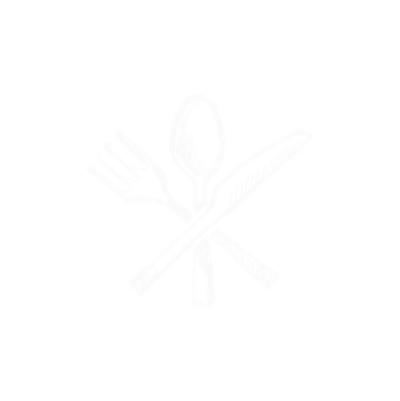 spoon, fork and knife
