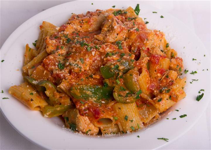 pasta with sauce and vegetables