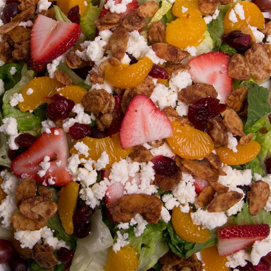 salad with fruit, walnuts and cheese