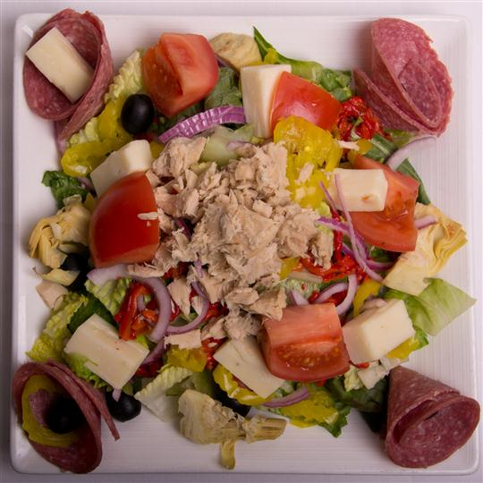anti-pasta salad with meats and cheese