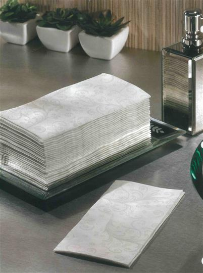 Stack of white guest towels