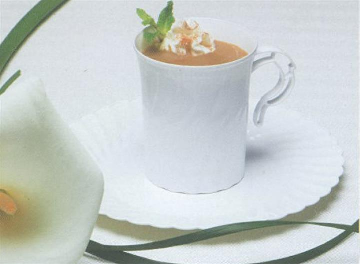 Classicware coffee mug on white dinnerware