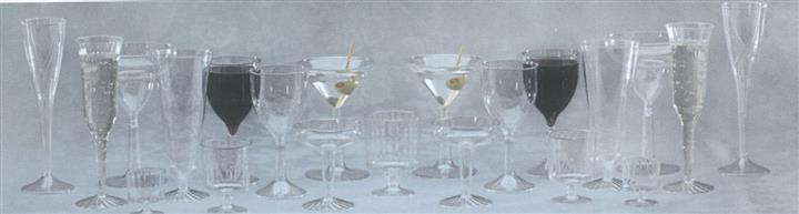 Reflections, classicware, classic crystal, and comet stemware on table