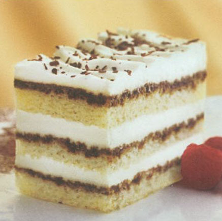 Layer cake with raspberry