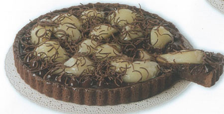 Chocolate Cream Pear Crostata