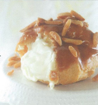 Salted caramel cream puff