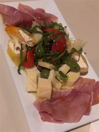 a plate of antipasto
