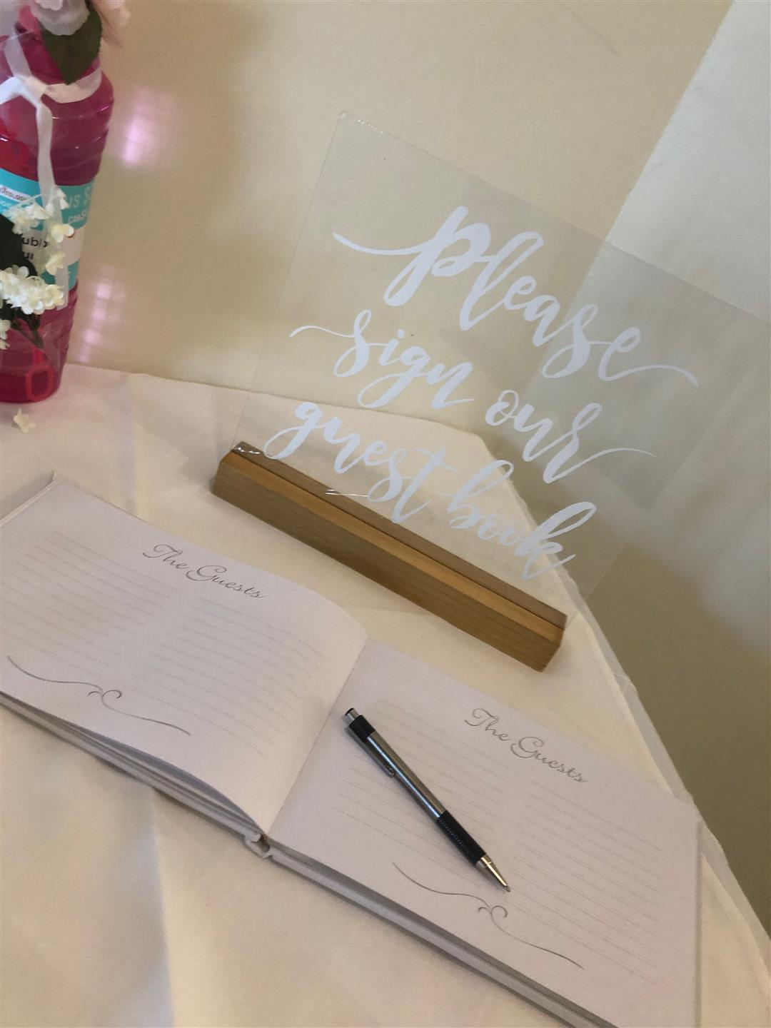 guest book for a wedding reception