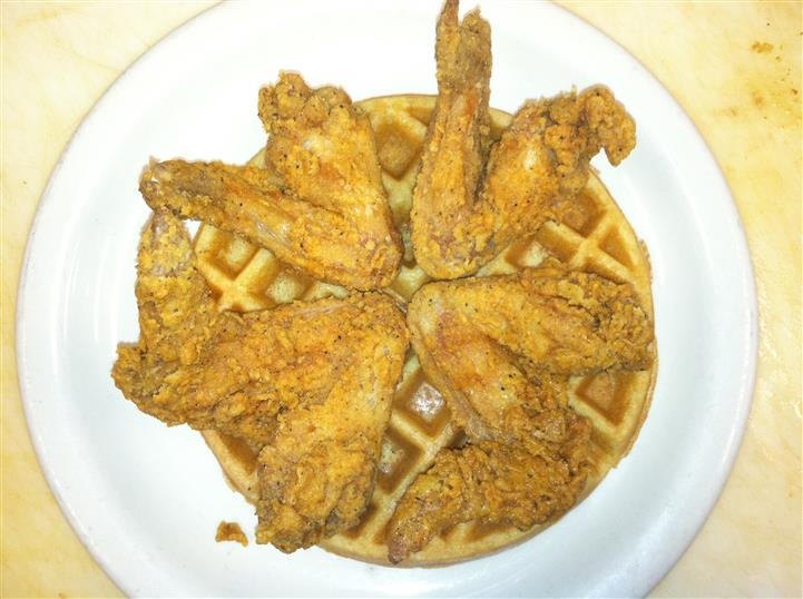 Chicken Wings on a waffle