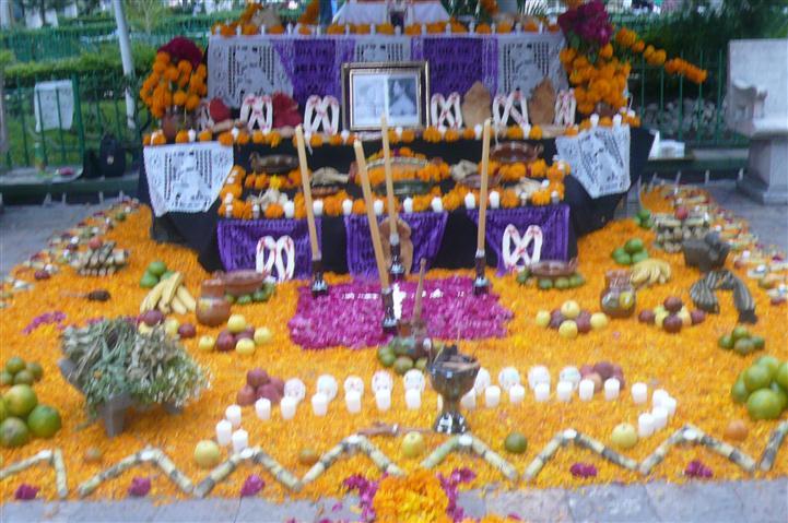 assorted day of the dead decorations