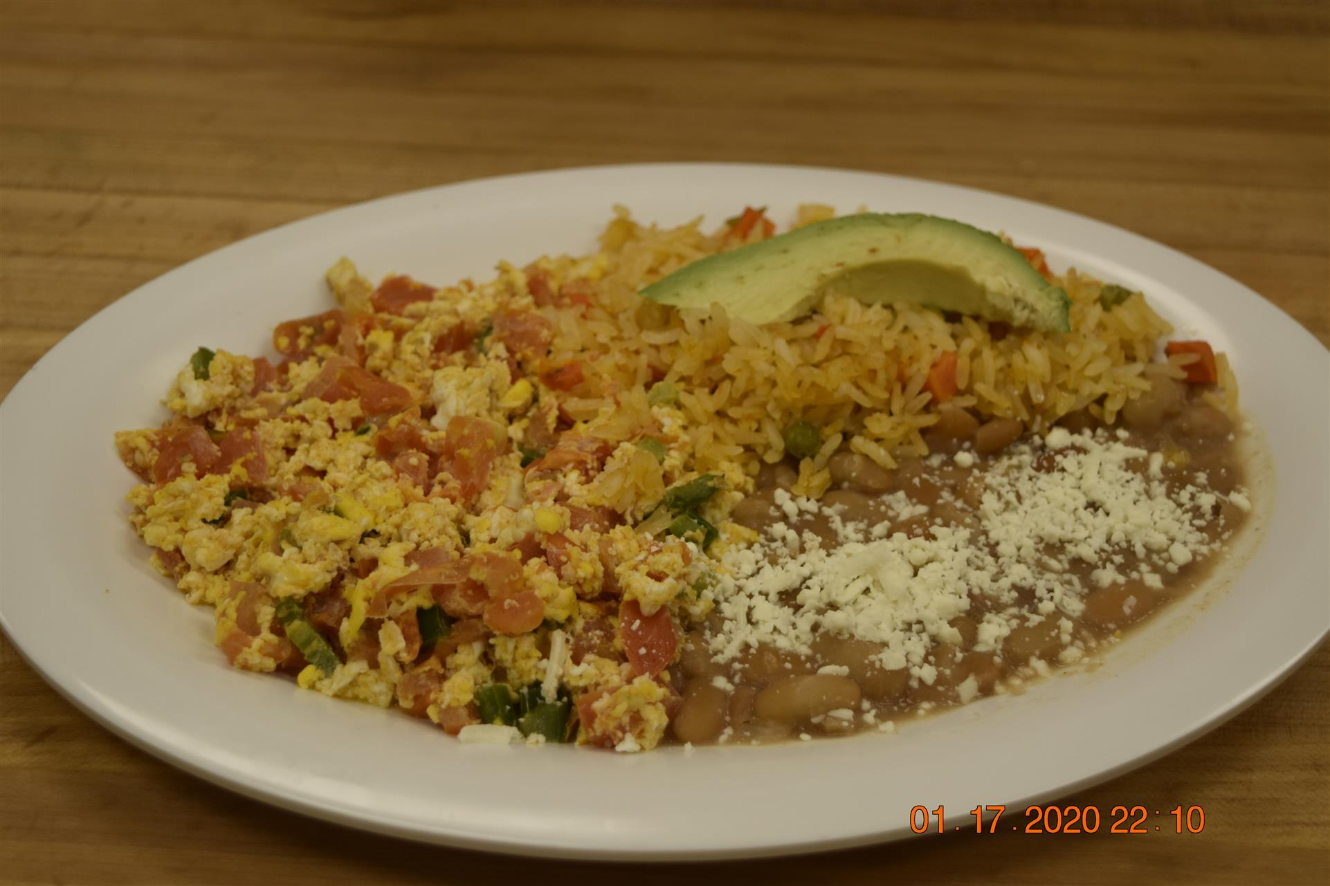 fried rice with beans and mixed vegetables