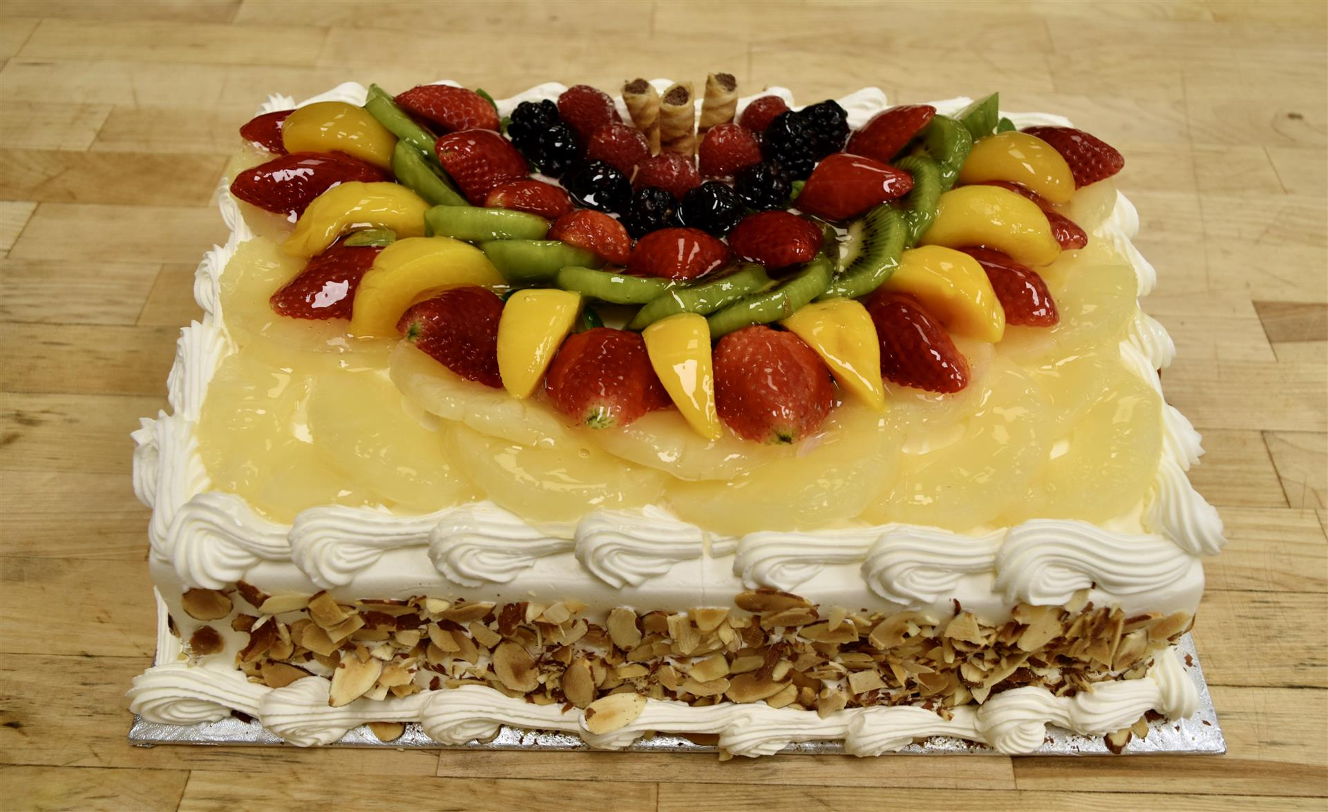 fruit  with almonds