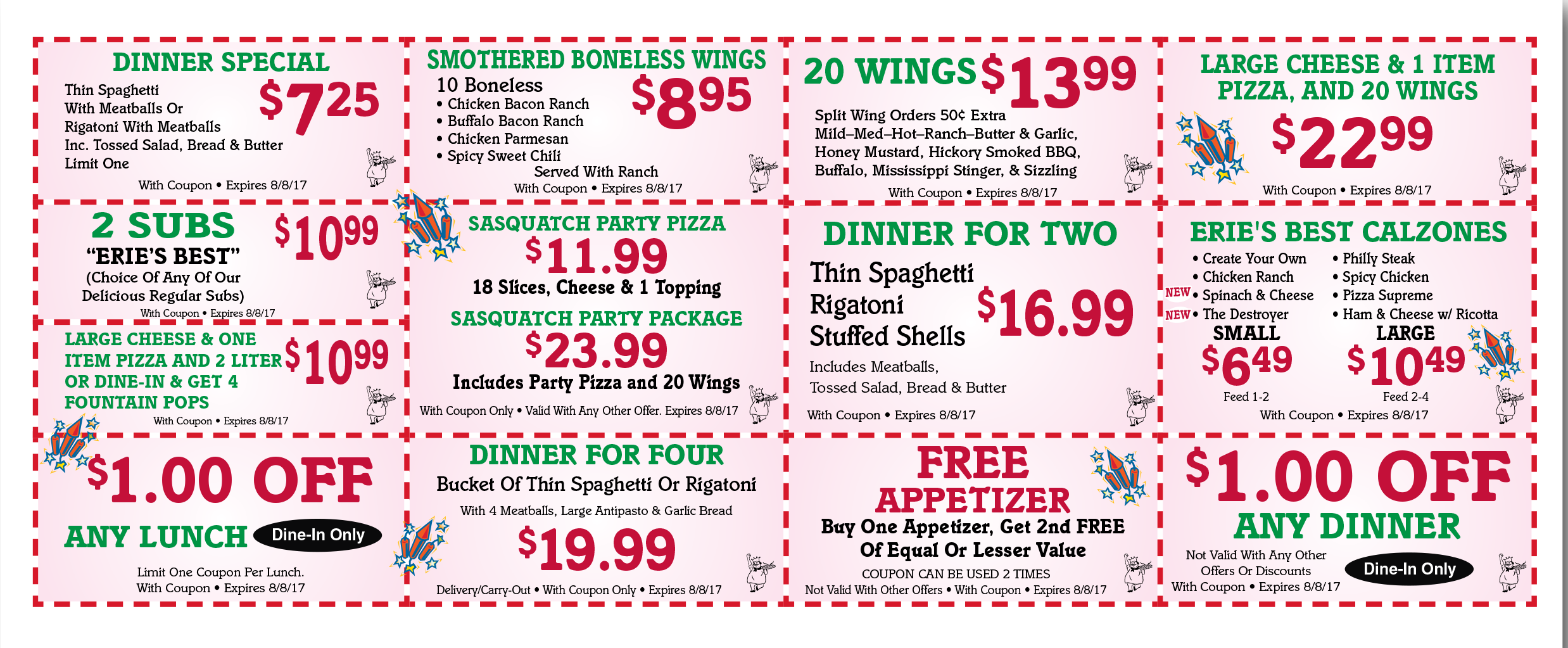 Restaurant coupons erie pa