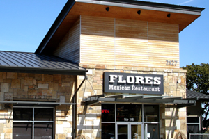 Outside of the Flores Mexican Restaurant Located in Lakeway