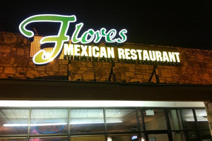 Outside of the Flores Mexican Restaurant Located in South Austin