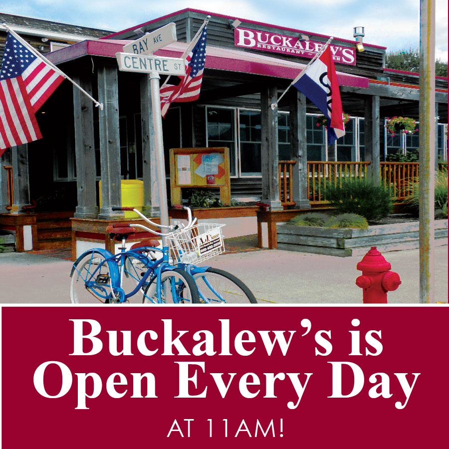 Buckalew's is Open Every Day at 11am!