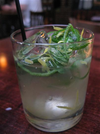 mixed drink with herbs
