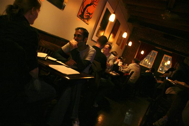 interior tables filled with customers