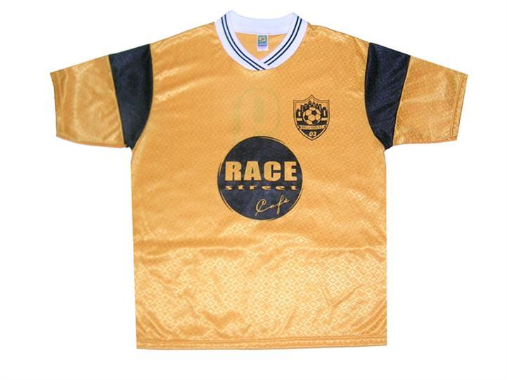 the race street cafe t shirt with logo branded on the front