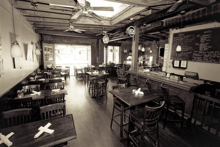 interior of race street cafe showcasing the seating area and bar