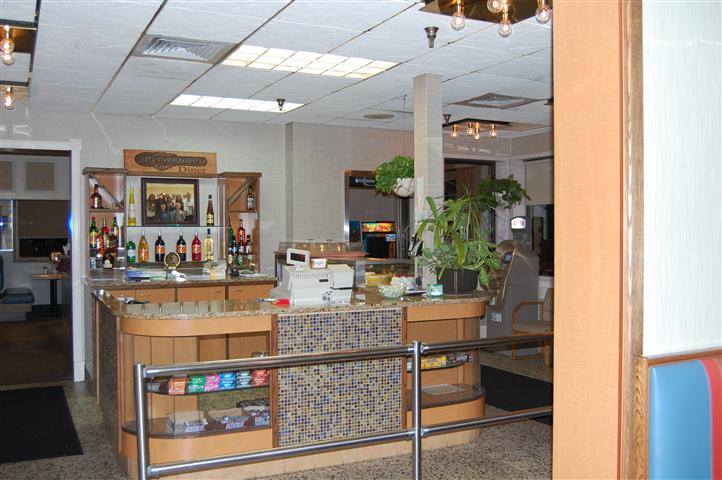 Concession area of restaurant