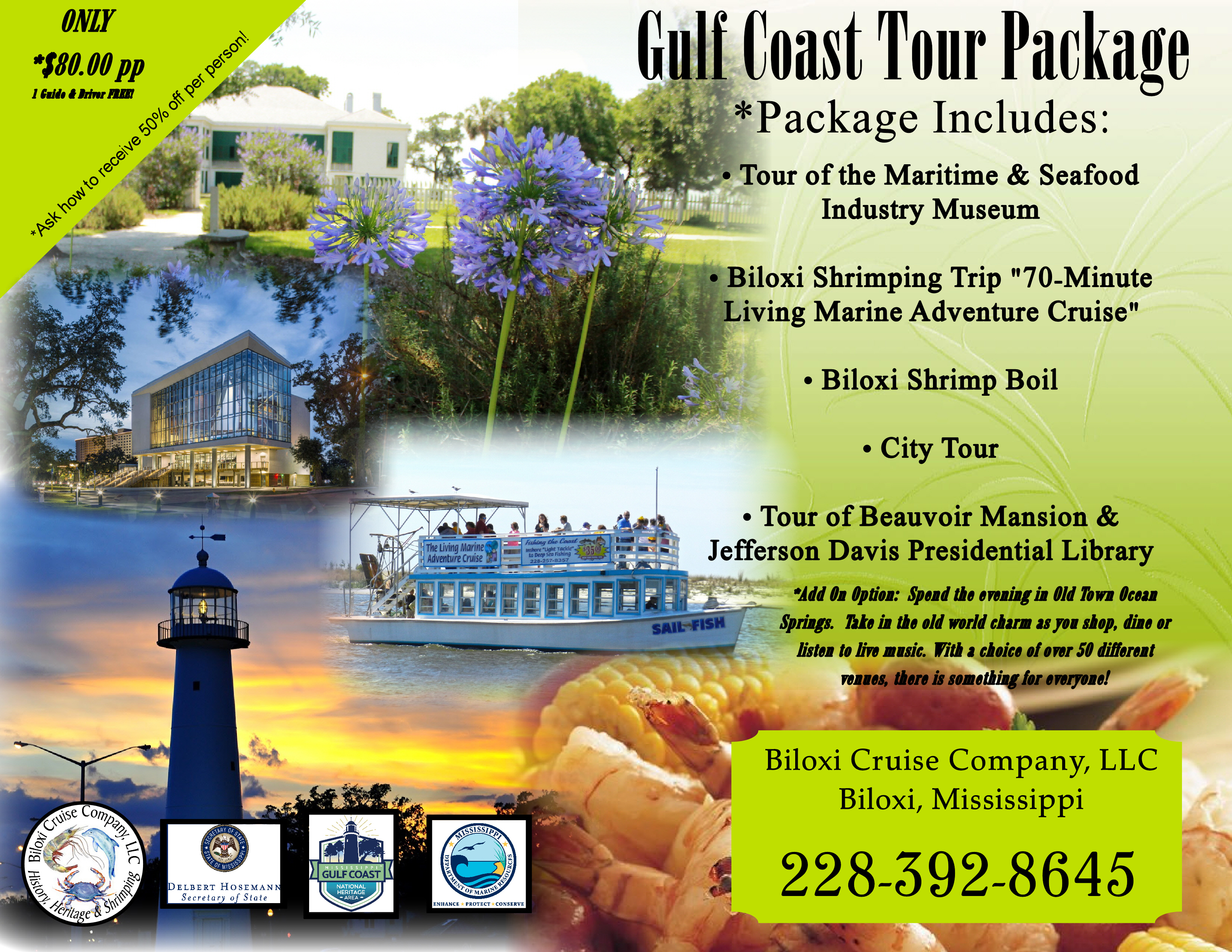 Biloxi Shrimping Trip  Motorcoach  Tour Operators