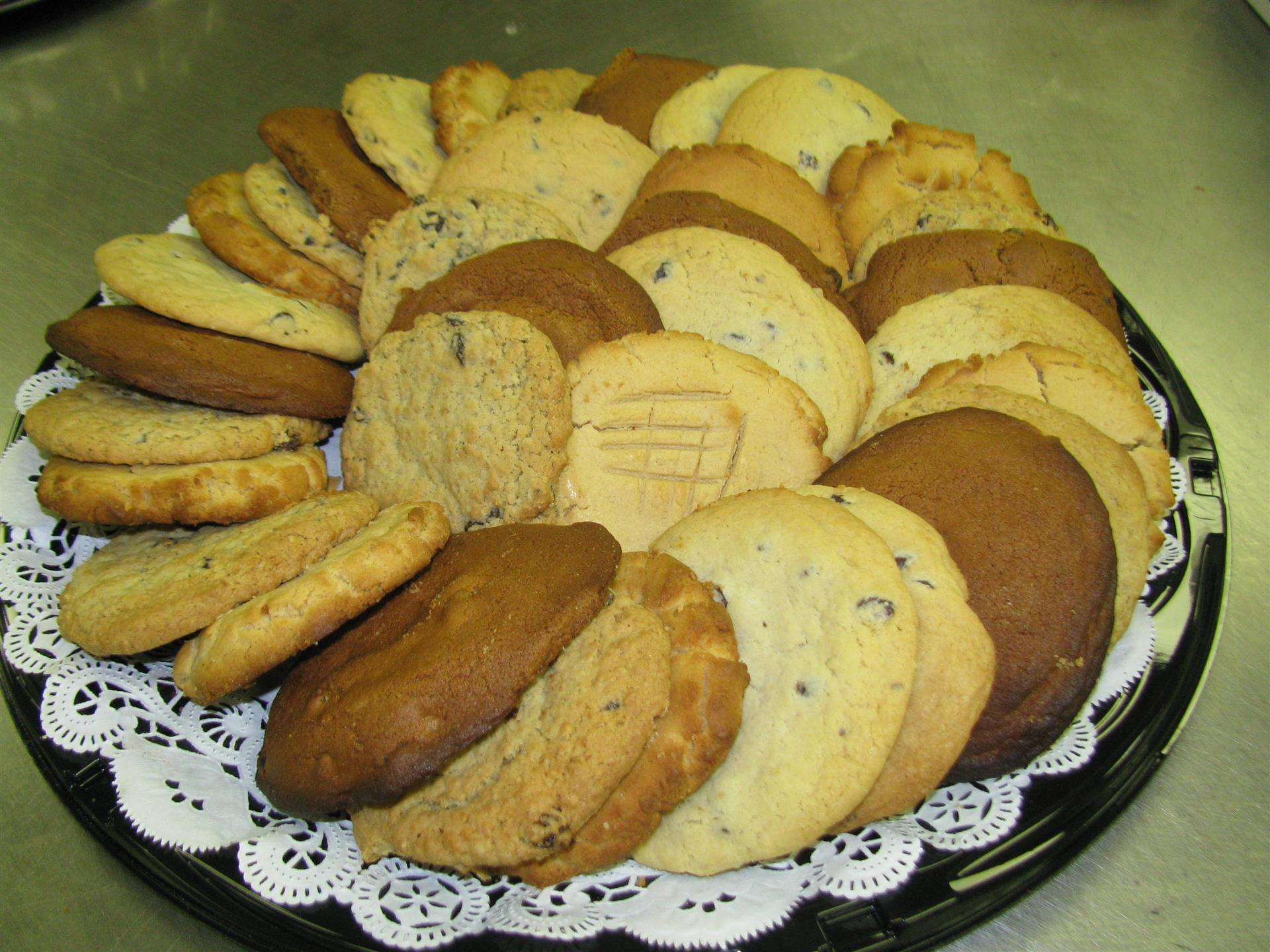 Platter of assorted cookies