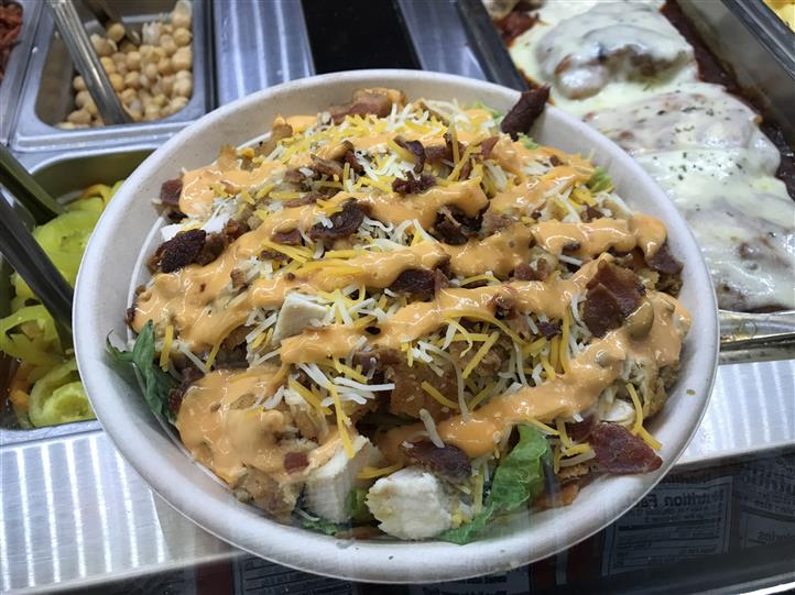 Salad bowl with toppings