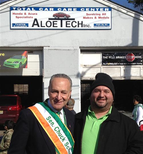 New York State Senator Chuck Schumer with Franco Aloe