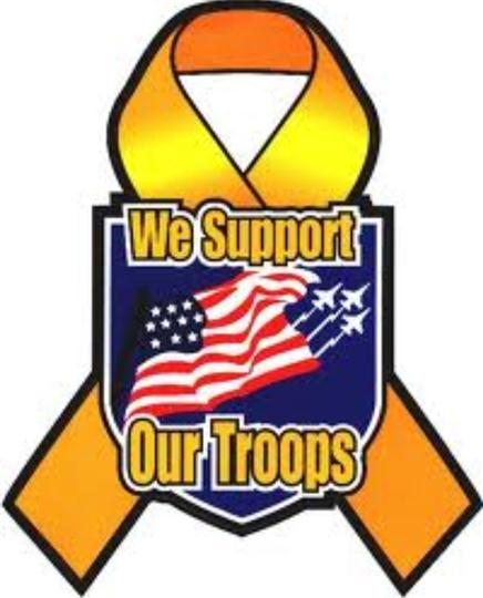 we support our troops logo