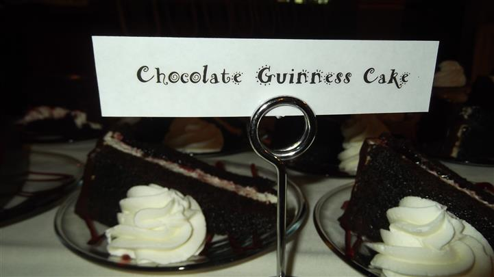chocolate guinness cake with whipped cream
