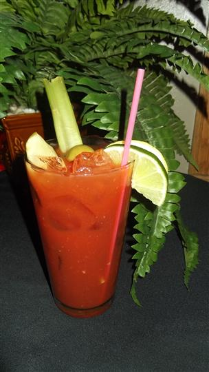 bloody mary with vegetables
