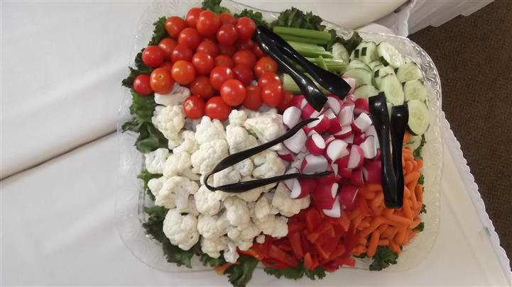 vegetable platter on a table