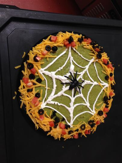 A decorated catering tray