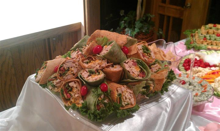 A tray of wraps