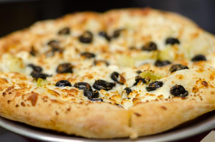 Pizza with olives