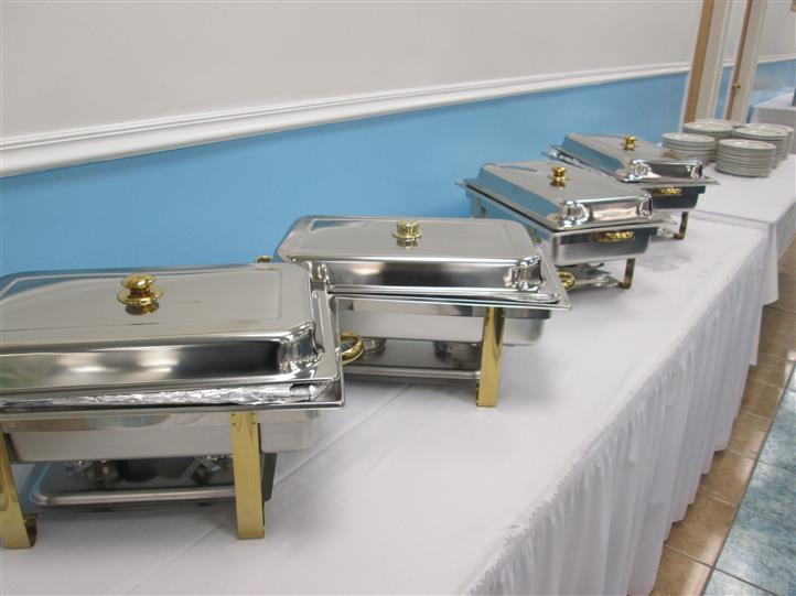 Catering trays on a buffet