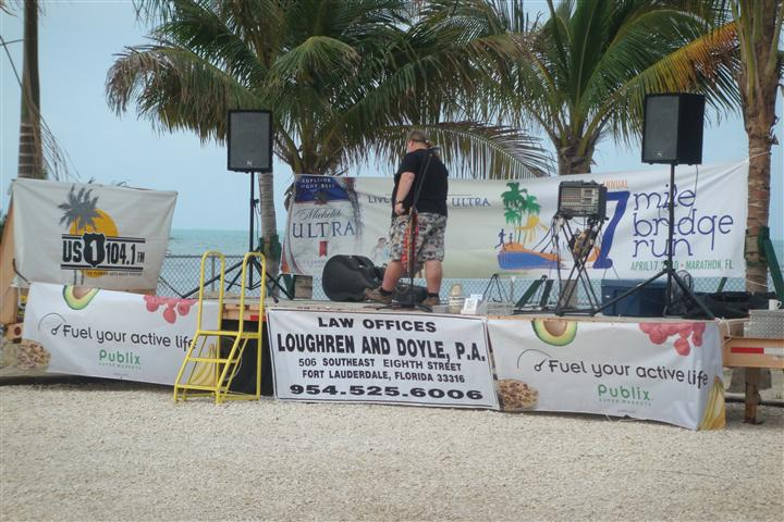 stage set up on the sand