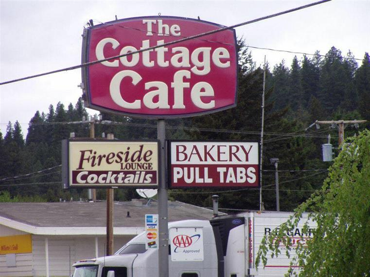 the cottage cafe sign