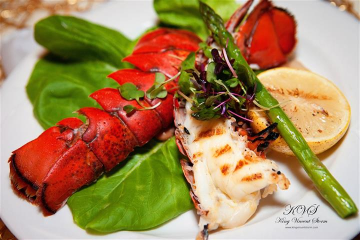 A platter with lobster tails