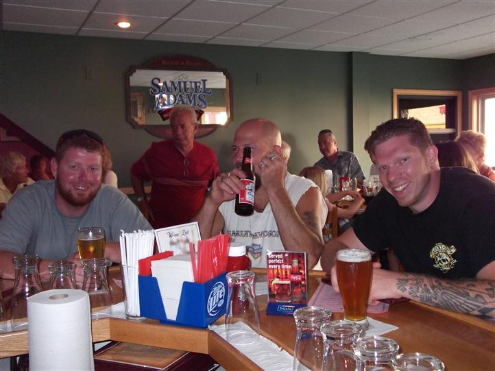Men having beer at the bar
