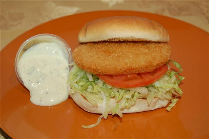 Halibut Fish Burger