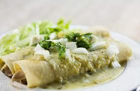 enchilada with sauce and herbs