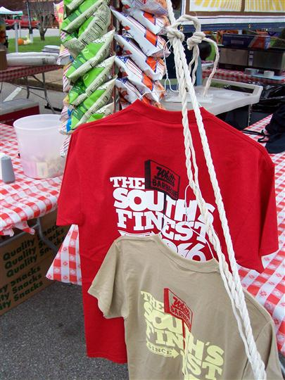 various Whitts Barbeque t-shirts