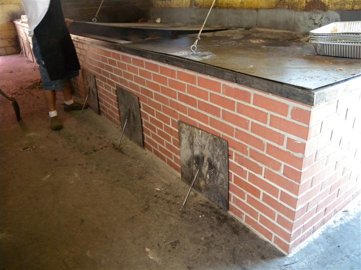 Whitts grills, which consist of brick furnaces