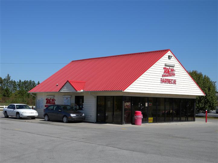 Whitts storefront and drive-through